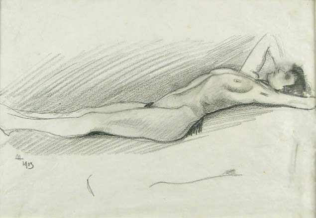 Baccio Maria Bacci, woman laying naked
