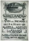 GUGLIELMO BALDASSINI, A Leaflet Advertising an Exhibition at the Museo del Paesaggio, 1921, etching