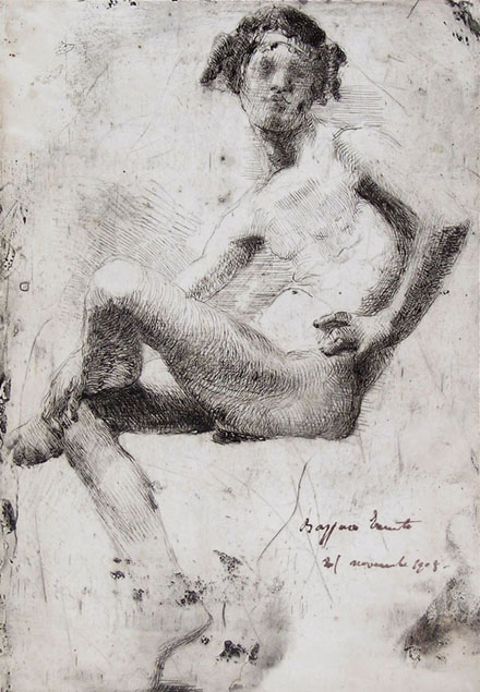 Ernesto Bazzaro, nude boy, working proof