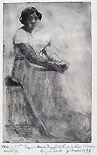 ERNESTO BAZZARO, Mestizia, etching. signed in pen and dedicated