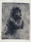 ERNESTO BAZZARO, Bust of a Young Woman, etching, working proof