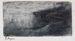 ERNESTO BAZZARO, Boats, etching, signed in pen