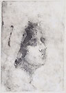 ERNESTO BAZZARO, Head of a Young Woman, etching, working proof