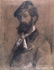 ERNESTO BAZZARO, Self-portrait, black chalk