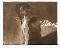 LUIGI BONAZZA, Sunset, mezzotint on steel