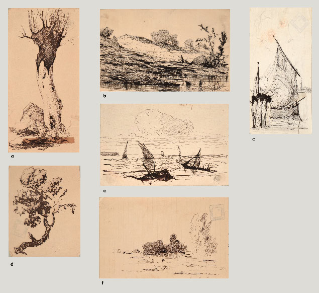 Giberto Borromeo Arese, six sketches of landscapes