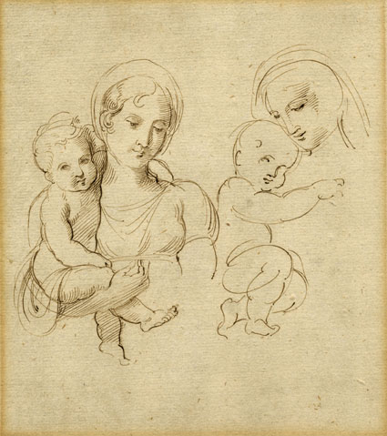 Giuseppe Bossi, a woman holding a baby