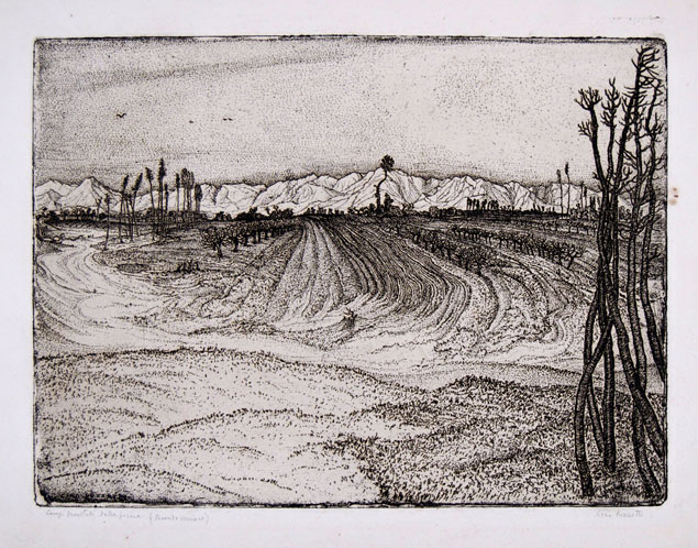 Cino Bozzetti, the fields devasted by the flood
