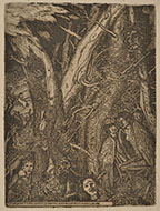 CINO BOZZETTI, The Wood of the Harpies, etching