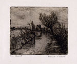 CINO BOZZETTI, The canal in winter, etching