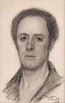 ARCHIMEDE BRESCIANI, Self-portrait, 1922, black chalk