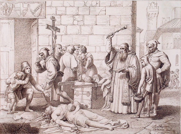 Baldassarre Calamai, an episode of the plague in Florence