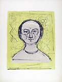MASSIMO CAMPIGLI, Self-portrait, colour lithograph