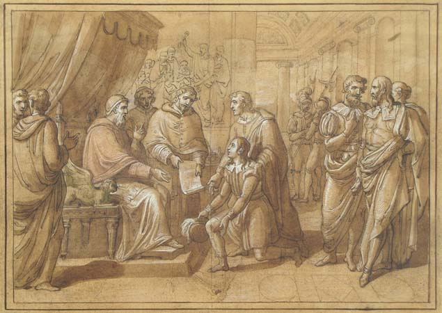 Vincenzo Camuccini, Bramante introducing Raphael to pope Julius II