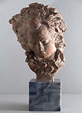 FERNAND CIAN, Bust of Beethoven, terracotta