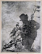 LUIGI CONCONI, Self-Portrait as a Shadow, etching, proof impression
