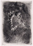 LUIGI CONCONI, Portrait of a Woman, etching