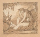 NINO COSTA, The Penitent Magdalene, black chalk