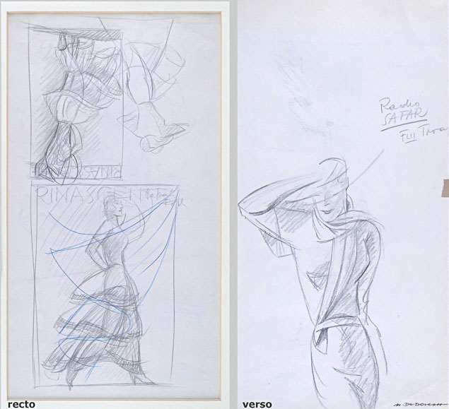 Marcello Dudovich, studies for advertising posters