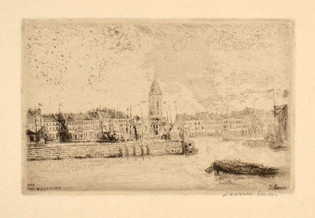 James Ensor, view of Ostend to the east
