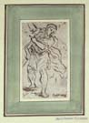 ANTONIO DOMENICO GABBIANI, Standing Male Figure, pen and ink