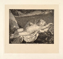 MAURO GANDOLFI, Cupid Sleeping, engraving