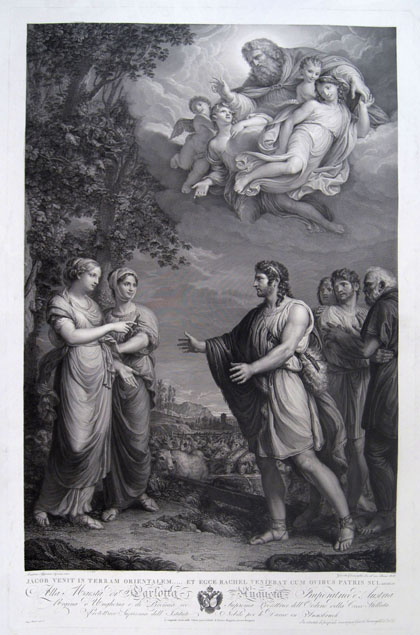 Giovita Garavaglia, Jacob and Rachel, after Andrea Appiani