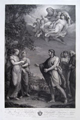 GIOVITA GARAVAGLIA, Jacob and Rachel, engraving, after Andrea Appiani