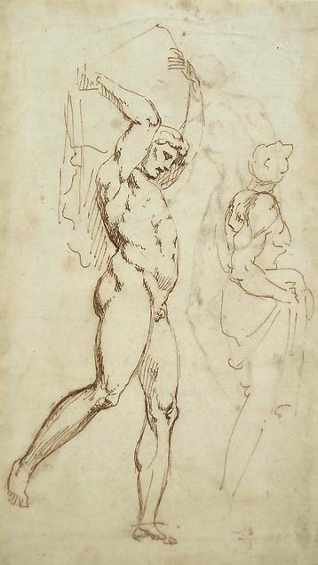 Anonymous 17th century artist, studies after Giovanni da Udine