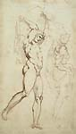 Anonymous Artist, 17th century, Studies of Figures after Giovanni da Udine, pen