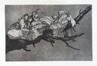 FRANCISCO GOYA, Disparate Ridiculo, etching, from Los Proverbios, first edition