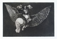FRANCISCO GOYA, Disparate Volante, etching, from Los Proverbios, first edition
