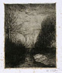 VITTORE GRUBICY DE DRAGON, Winter Evening, etching