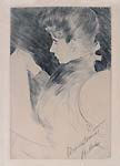 PAUL CESAR HELLEU, Madame Helleu Reading, etching, dedicated