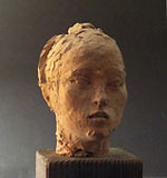 BRUNO INNOCENTI, Head of a Young Woman, plaster and wax