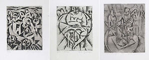 ROBERTO MARCELLO (IRAS) BALDESSARI, Three Futurist Etchings