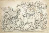 Italian Artist, c. 1800, A Neoclassical Frieze, pen and black chalk