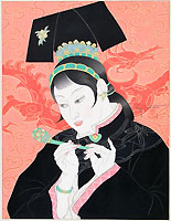 PAUL JACOULET, Les Jades: Chinoise, woodcut