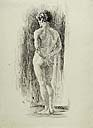FRANCESCO JACOVACCI, Standing Male Nude Seen from Behind, pen