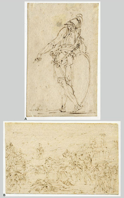 André Le Brun, two sketches