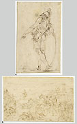ANDRE LE BRUN, Two Sketches, pen