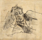MINO MACCARI, Portrait of Ottone Rosai, 1928, black chalk