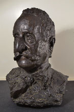 ANTONIO MANCINI, Portrait of the Artist's Father, bronze