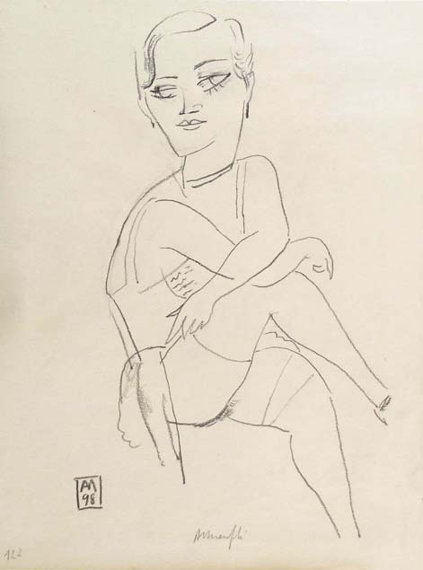 Alberto Manfredi, seated woman