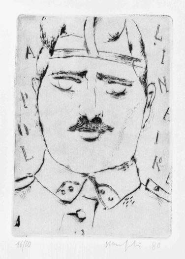Alberto Manfredi, portrait of Apollinaire