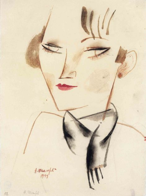 Alberto Manfredi, the woman with a fringe