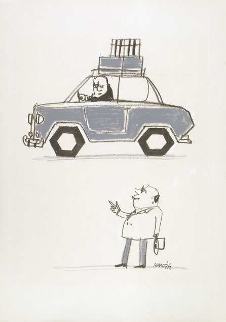 Riccardo Manzi, original cartoon