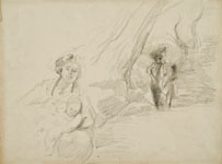 POMPEO MARIANI, A Sheet of Studies, black chalk