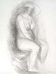 MARINO MARINI, Seated Woman, lithograph