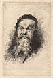 FRANCESCO PAOLO MICHETTI, Portrait of a Bearded Man, etching